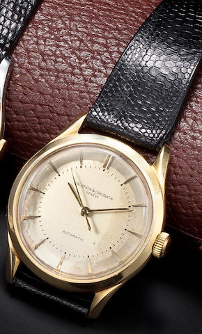 Vacheron & Constantin. An 18K gold automatic wristwatch with center secondsCase no. 334401, Movement no. 506408, 1950's