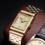 Vacheron Constantin. A rare 18K rose and yellow gold Art Deco rectangular wristwatch with 14K rose and yellow gold bracelet en suiteCase No.262412, Movement No.420129, circa 1930 – 1935