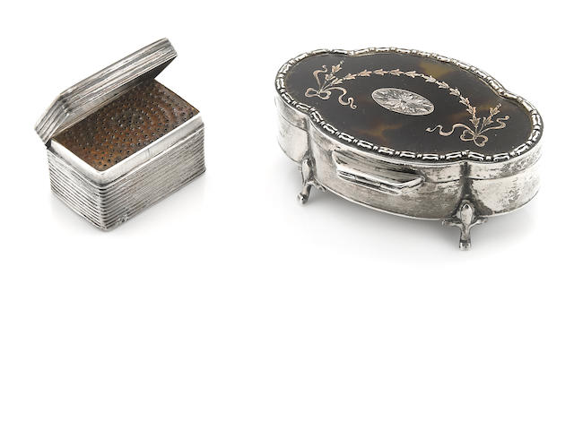 A George V  sterling silver and tortoiseshell jewelry casket Elkington & Co., Birmingham,  1911