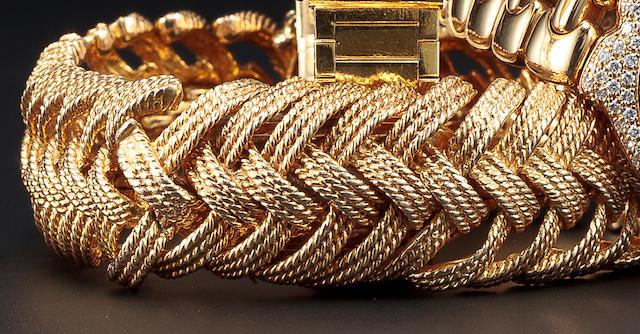 A diamond watch, Tiffany & Co. with box