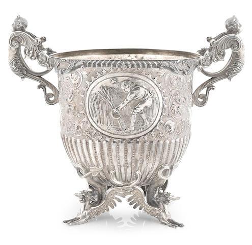 A Regency sterling silver  wine cooler Benjamin Smith II, London,  1814
