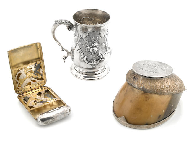 A group of Victorian  sterling silver and silver-mounted gentleman's accessories Second half 19th century