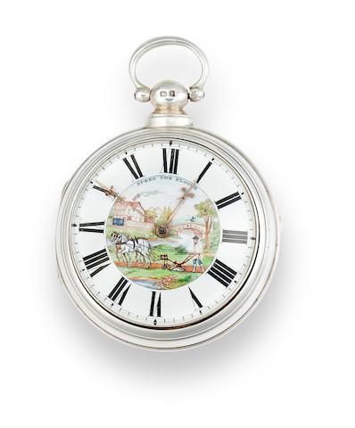 Robert Fletcher, Chester. An 18K gold open face lever watchNo. 5066, the case London, 1821