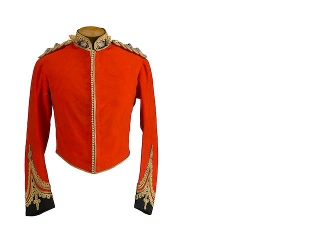 A lieutenant's dress uniform coat of the Welsh Guards
