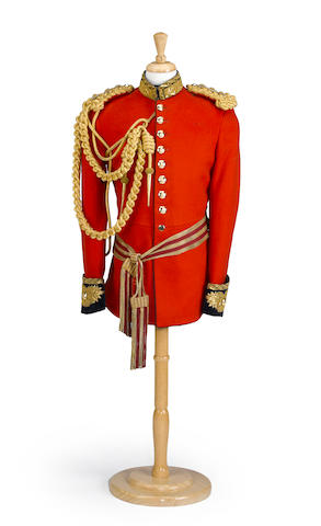 A captain's dress uniform coat of the Life Guards