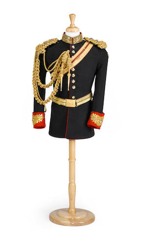 A lieutenant's dress uniform coat of the Blues and Royals (Royal Horse Guard/1st Dragoons)