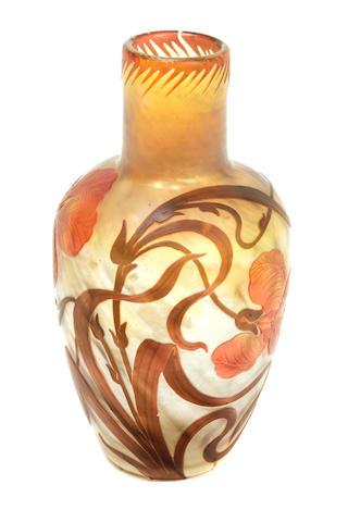 A Cristalleries de Pantin glass vase