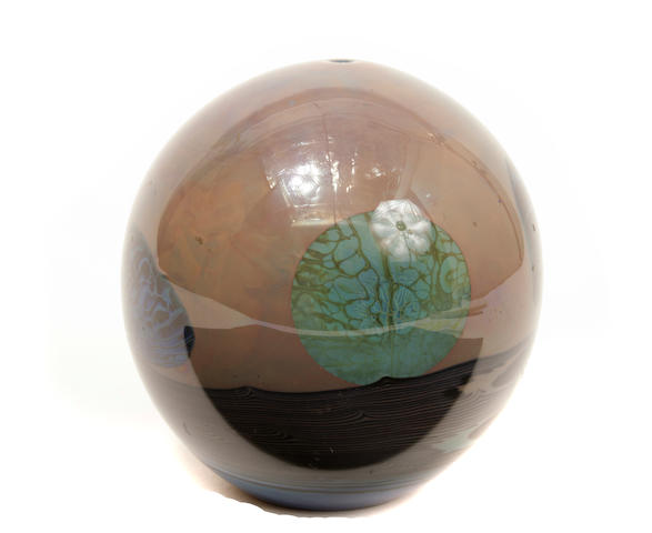 A John Lewis glass Moon vase circa 1987