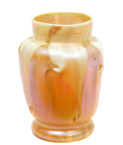 An L.C. Tiffany decorated Favrile glass vase circa 1899