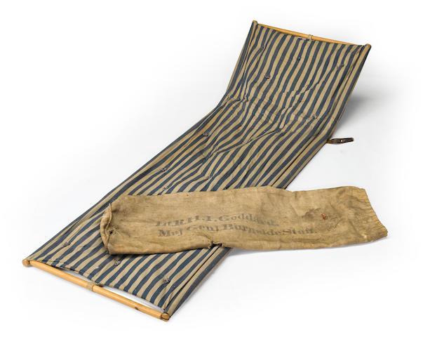 A rare Civil War camp bed belonging to Captain Richard Hale Ives Goddard