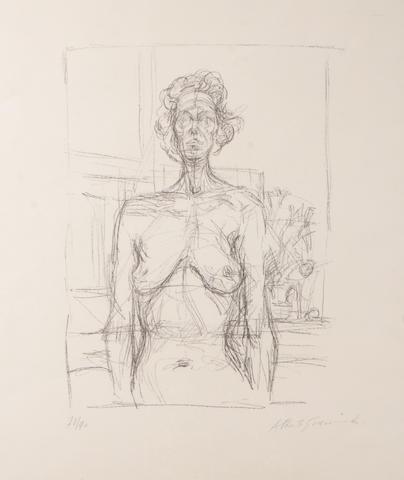 Alberto Giacometti, Nu aux fleurs, 1960, lithograph, 14 5/8 x 10 5/8 in.