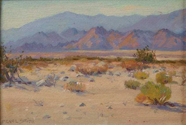 F. Carl Smith (American, 1868-1955) Near Palm Springs 6 x 8in