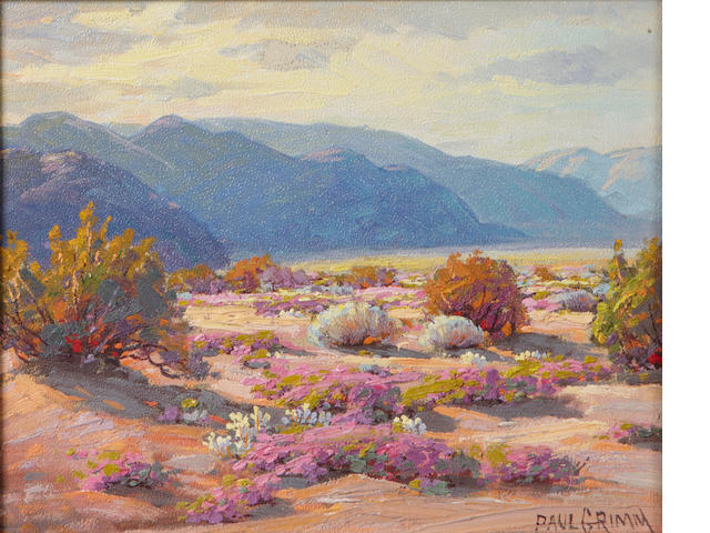 Paul A. Grimm (American, 1891-1974) Late afternoon 8 x 10in
