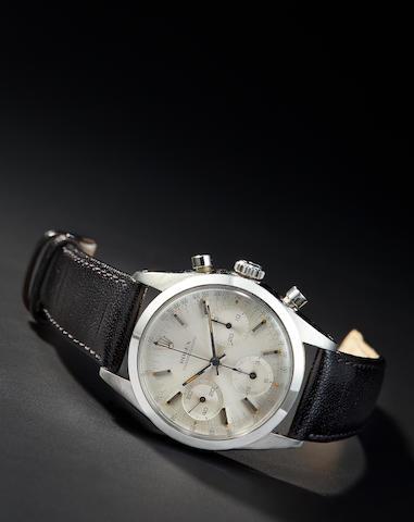 Rolex. A fine stainless steel chronograph wristwatchRef:6238,  No. 1101328, circa 1964