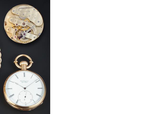 Jules Jurgensen 2-Train split chronograph and locket with chain