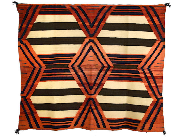 A Navajo late classic chief's blanket