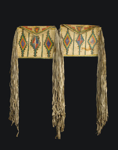 A pair of Plains parfleche flat bags