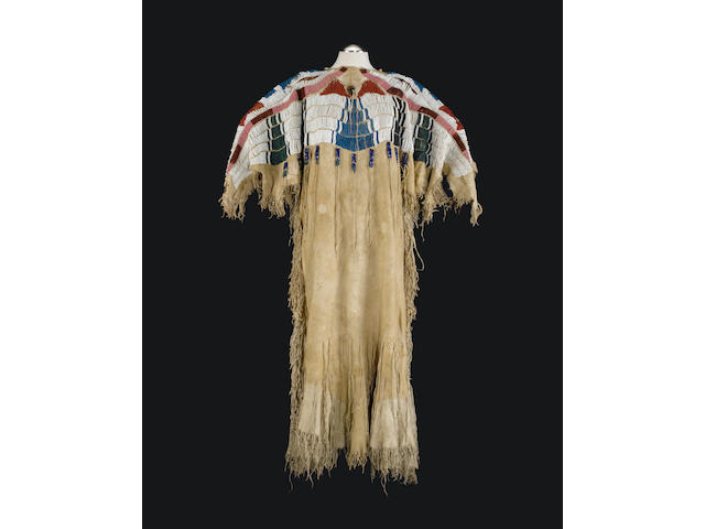 A Nez Perce beaded dress