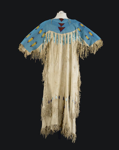 A Plateau or Northern Plains beaded dress