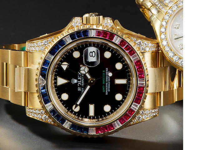 Rolex YG with jewels GMT II (?116758or 116748)