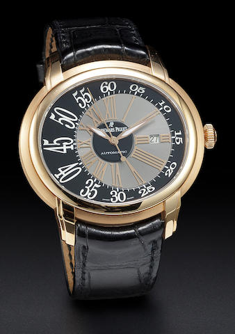 Audemars Piguet. A fine 18K rose gold center seconds automatic wristwatch with dateMillenary, Ref:15320OR.OO.D002CR.01, Case no. F77222, Movement no. 661608
