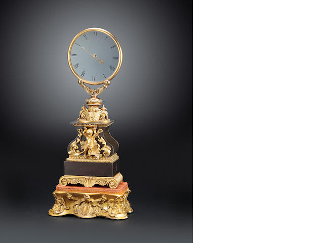 Robert-Houdin patinated bronze mystery clock