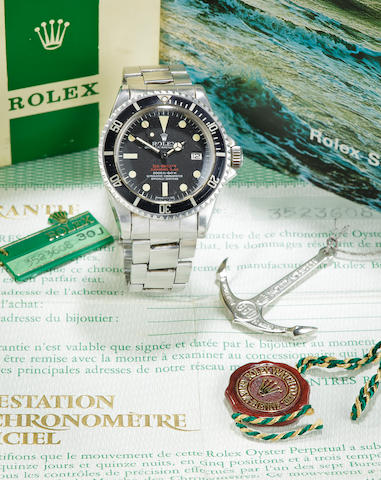 A Rolex with box and papers style #1665