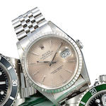 Rolex. A stainless steel automatic center seconds bracelet watch with dateOyster Perpetual Datejust