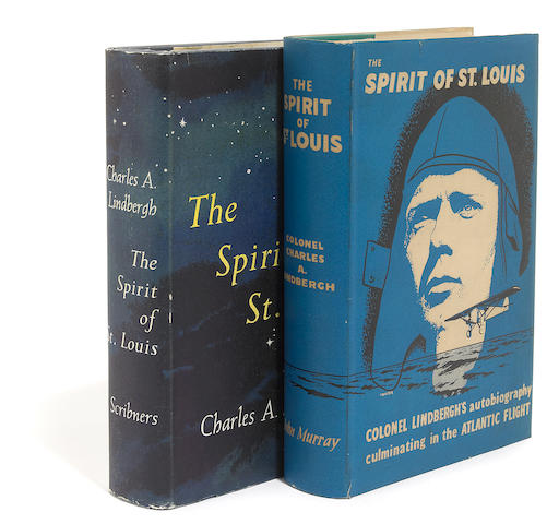 LINDBERGH, CHARLES. 1902-1974. The Spirit of St. Louis. New York: Charles Scribner's Sons, 1953 [and] London: John Murray, [1953].
