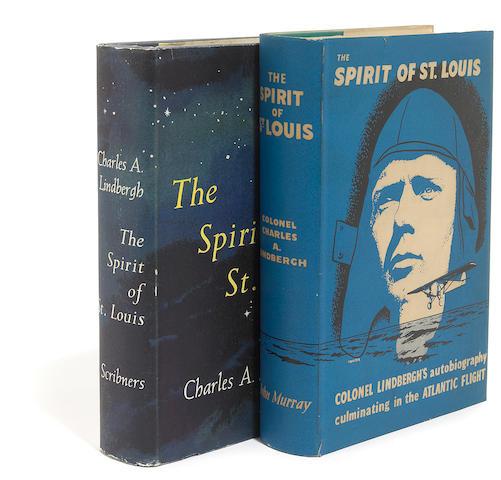 LINDBERGH, CHARLES. 1902-1974. The Spirit of St. Louis. New York: Charles Scribner's Sons, 1953 [and] London: John Murray, [1953].