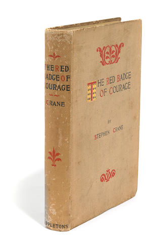 CRANE, STEPHEN. 1871-1900. The Red Badge of Courage. New York: D. Appleton and Company, 1896.