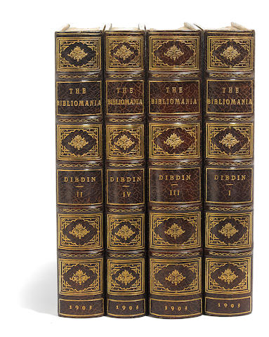 DIBDIN, THOMAS FROGNALL. 1776-1847. The Bibliomania, or, Book Mandess. HIstory, Symptoms and Cure of this Fatal Disease. Boston: The Bibliophile Society, 1903.