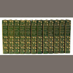 DICKENS, CHARLES. Works. Boston: n.d. 48 vols. Ed of 1000. 3/4 green morocco.