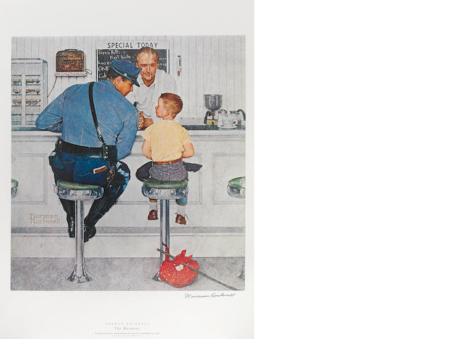 ROCKWELL, NORMAN. 1894-1978. A Suite of Fifteen Color Prints of Saturday Evening Post Covers. New York: Harry N. Abrams, [1972].