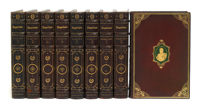 HAZLITT, WILLIAM. Life of Napoleon Bonaparte. London: Napoleon Society, n.d. 16 vols. 1 of 10 sets. deluxe binding.
