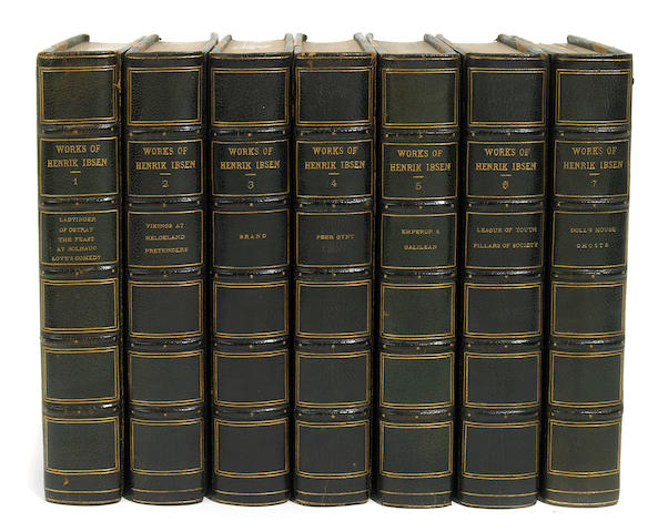 IBSEN, HENRIK. Works. NY: 1911. 13 volumes. Viking ed.