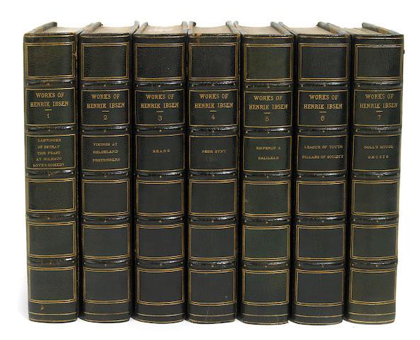 IBSEN, HENRIK. Works. NY: 1911. 13 volumes. Viking ed.