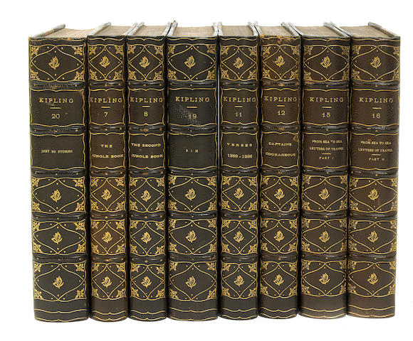 KIPLING, RUDYARD. Writings. NY: 1899-1903. 21 vols. Outward Bound ed.