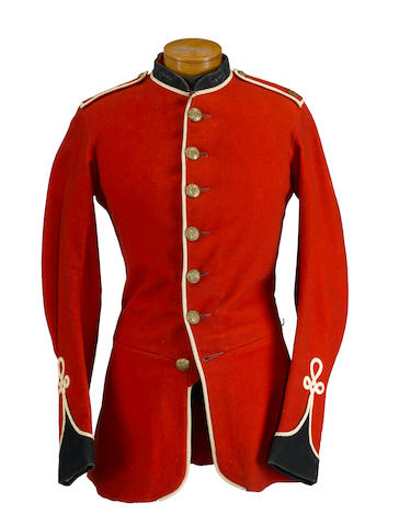 A British 1870 Pattern other ranks scarlet dress tunic of the 89th Regiment of Foot (Royal Irish Fusiliers)