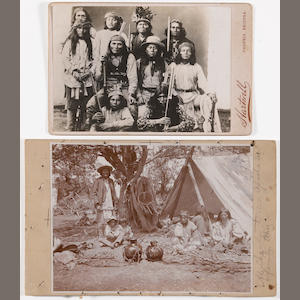 Two photographs of Apache subjects