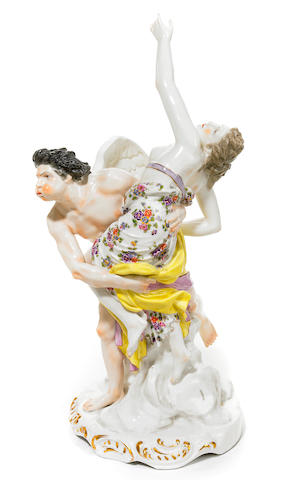 A French porcelain figural group  early 20th century