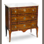 A Louis XV/XVI Transitional inlaid walnut commode <BR />fourth quarter 18th century
