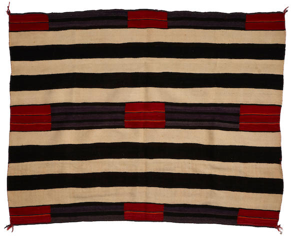 A Navajo transitional chief's design weaving