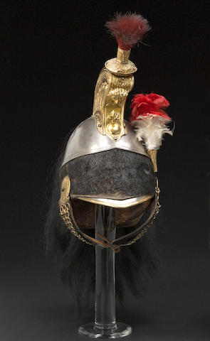 A French Pattern 1858 cuirassier's helmet