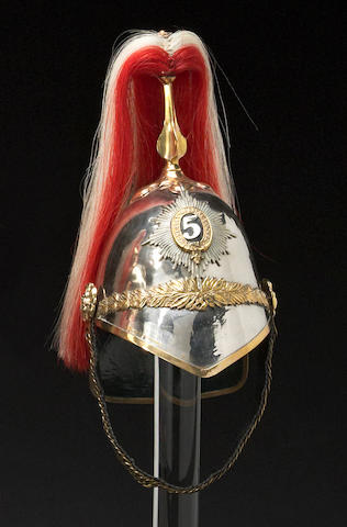 A (Princess Charlotte of Wales) 5th Dragoon Guards other ranks 1871 Pattern helmet