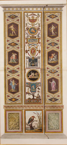After Ludovicus Teseo Taurinesis; by Joannes Volpato Two Architectural panels of the Raphael's Vatican Loggia; (2)
