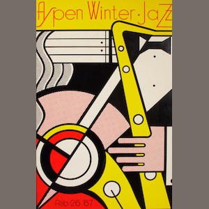 Roy Lichtenstein (American, 1923-1997); Aspen Winter Jazz poster;