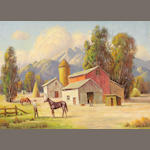 Paul A. Grimm (American, 1891-1974) Active ranch, 1951 20 x 30in