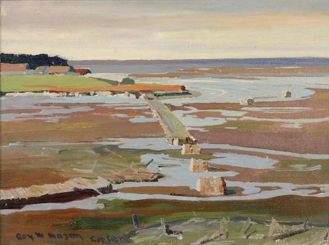 Roy Martell Mason (American, 1886-1972) Capucins Bridge 12 x 16in