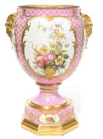 A Continental porcelain vase <BR />early 20th century